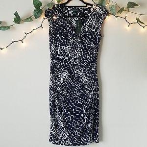 NWT Ralph Lauren Navy and White Work Dress